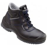 C410 Cole half hoge schoen rundleer zwart S3