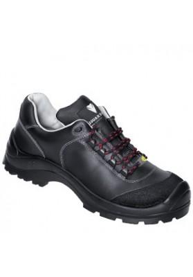 C320 CLEMENS lage schoen rundleer zwart ESD